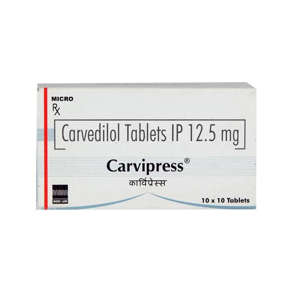 Carvipress 12.5mg Tablet 10'S