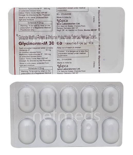 Glycinorm M OD 30mg Tablet 10'S