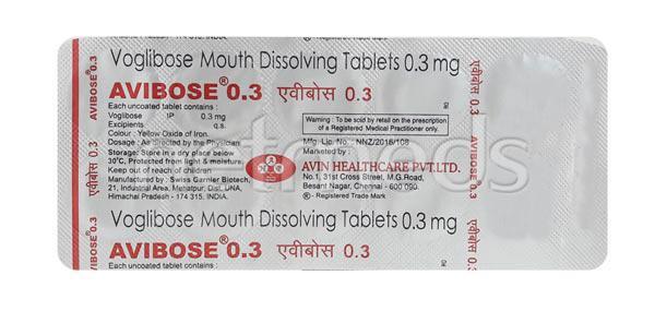 Avibose 0.3mg Tablet 10'S