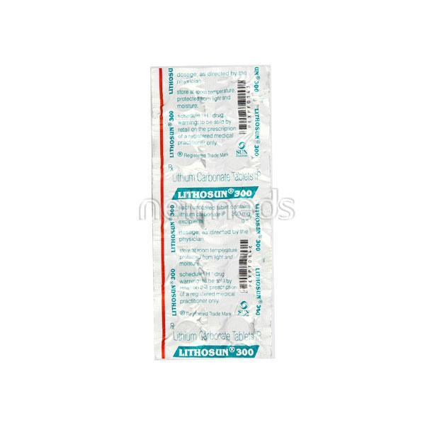 Lithosun 300mg Tablet 10'S
