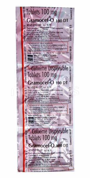 Gramocef O DT 100mg Tablet 10'S