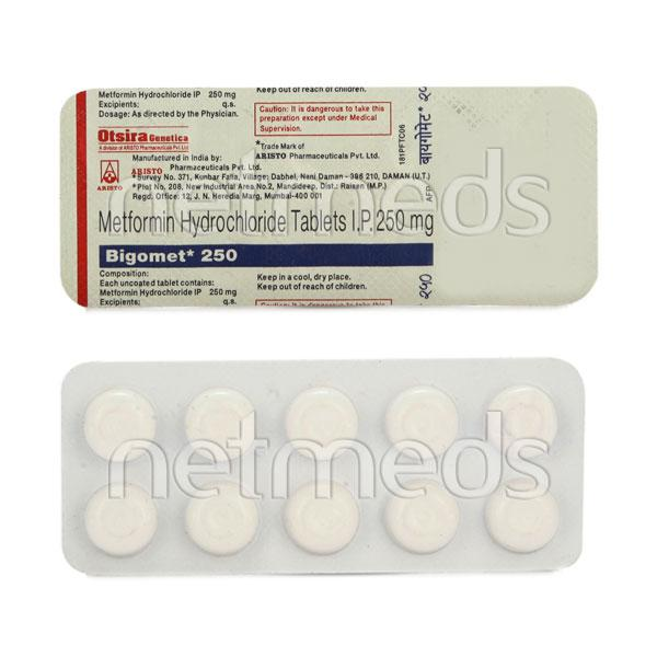 Bigomet 250mg Tablet 10'S