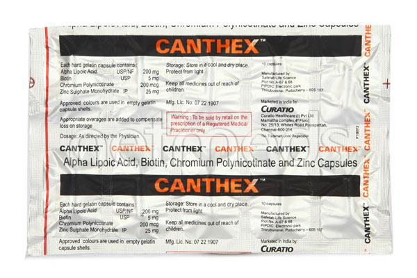 Canthex Capsule 10'S