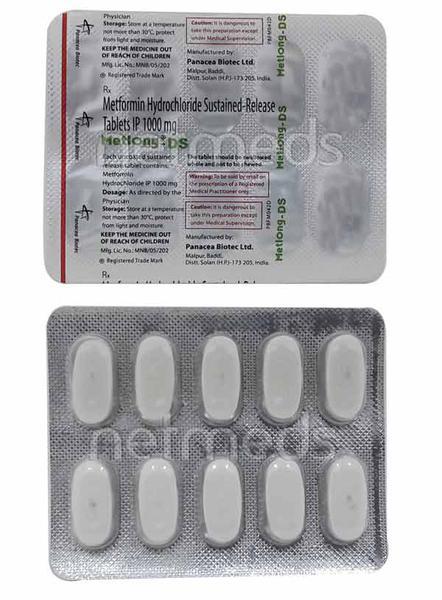 Metlong DS 1gm Tablet 10'S