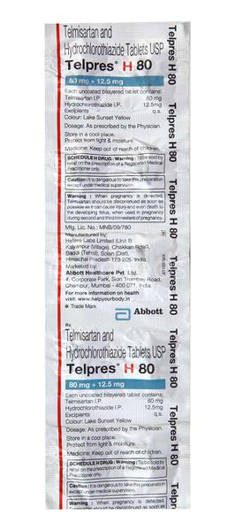 Telpres H 80mg Tablet 10'S