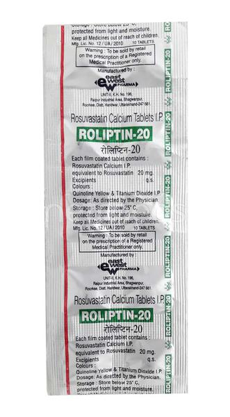 Roliptin 20mg Tablet 10'S
