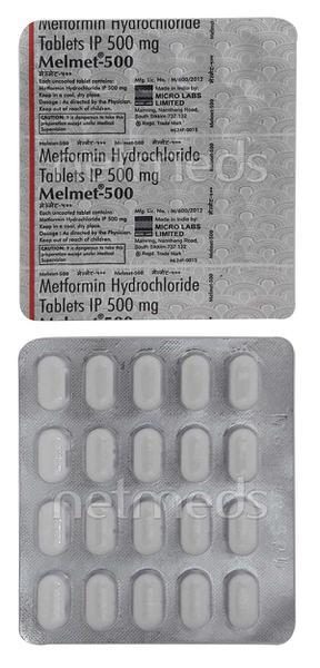 Melmet 500mg Tablet 20'S