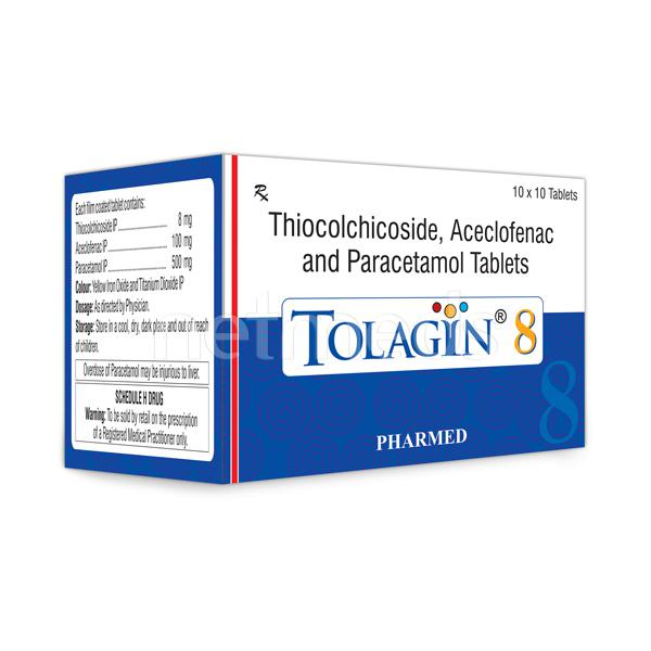 Tolagin 8mg Tablet 10'S