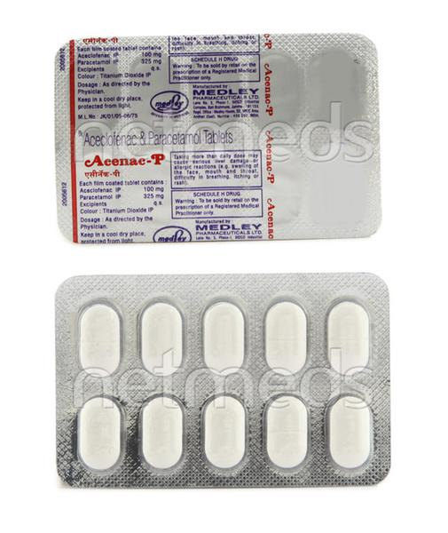 Acenac P Tablet 10'S