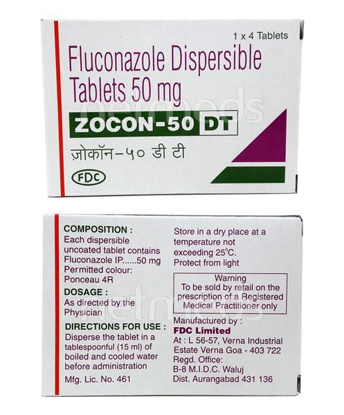 Zocon DT 50mg Tablet 4'S