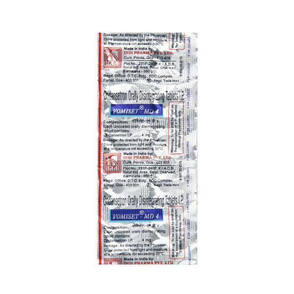 Vomiset MD 4mg Tablet 10'S