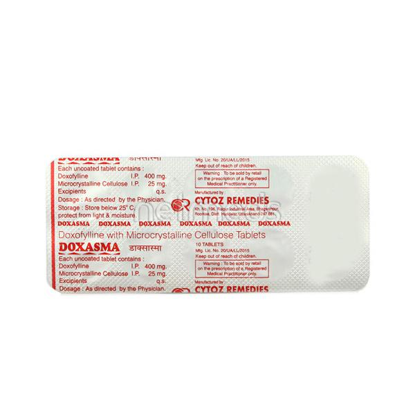 Doxasma 400mg Tablet 10'S