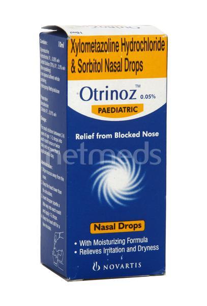 Otrinoz 0.05% Paediatric Nasal Drops 10ml