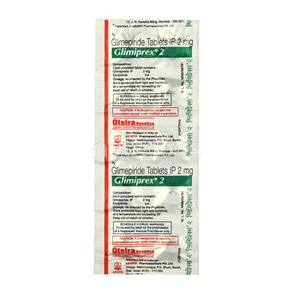 Glimiprex 2mg Tablet 10'S