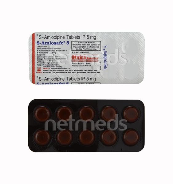 S Amlosafe 5mg Tablet 10'S