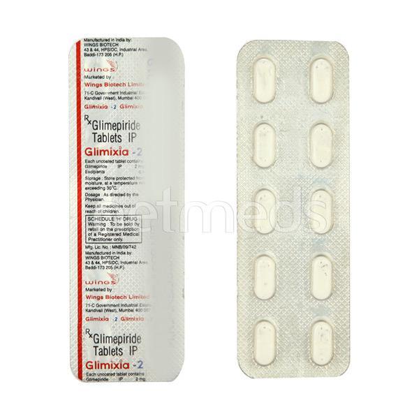 Glimixia 2mg Tablet 10'S