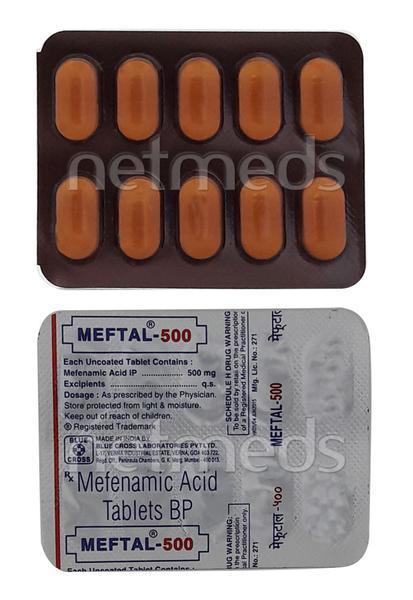 Meftal 500mg Tablet 10'S