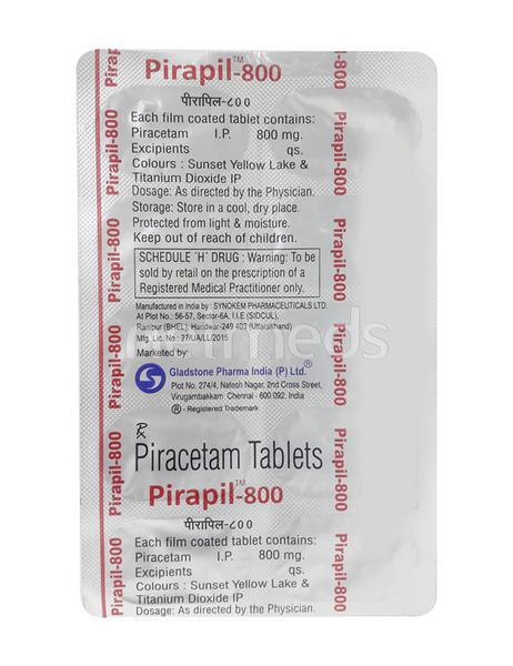 Pirapil 800mg Tablet 10'S