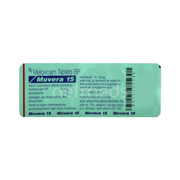 Muvera 15mg Tablet 10'S