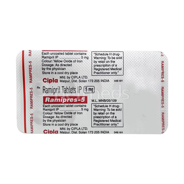 Ramipres 5mg Tablet 10'S