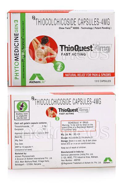 Thioquest 4mg Capsule 10'S