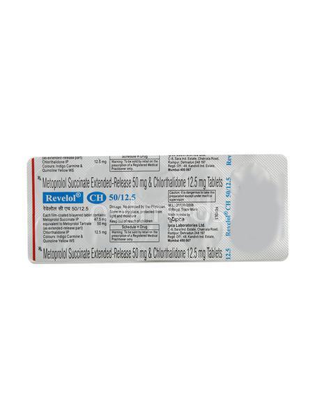 Revelol CH 50/12.5mg Tablet 10'S