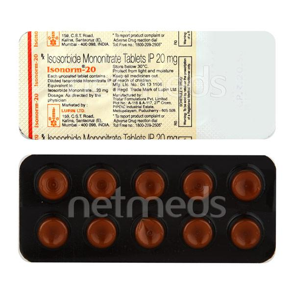 Isonorm 20mg Tablet 10'S
