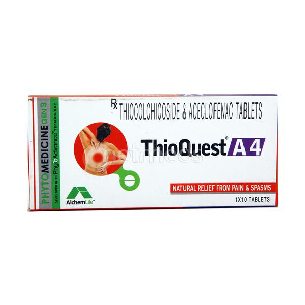 Thioquest A 4mg Tablet 10'S