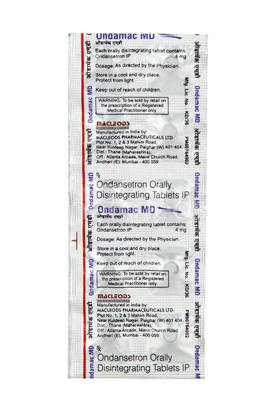 Ondamac MD Tablet 10'S