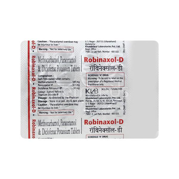Robinaxol D Tablet 10'S