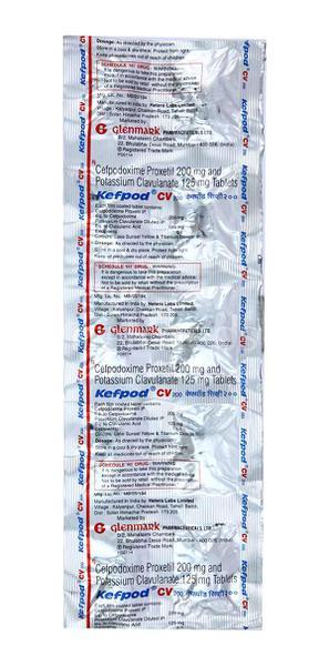 Kefpod CV 200mg Tablet 10'S