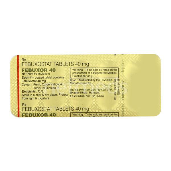 Febuxor 40mg Tablet 10'S