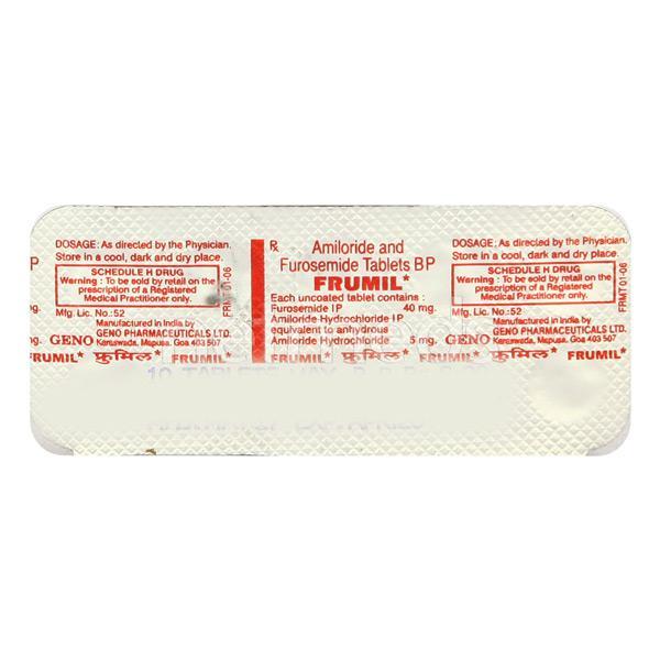 Frumil Tablet 10'S