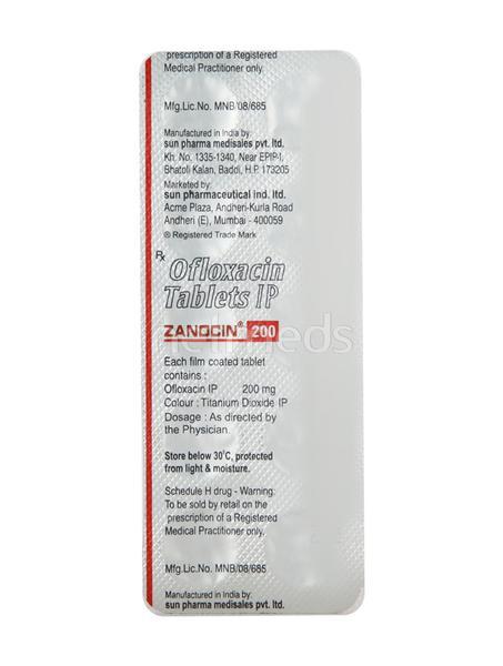 Zanocin 200mg Tablet 10'S