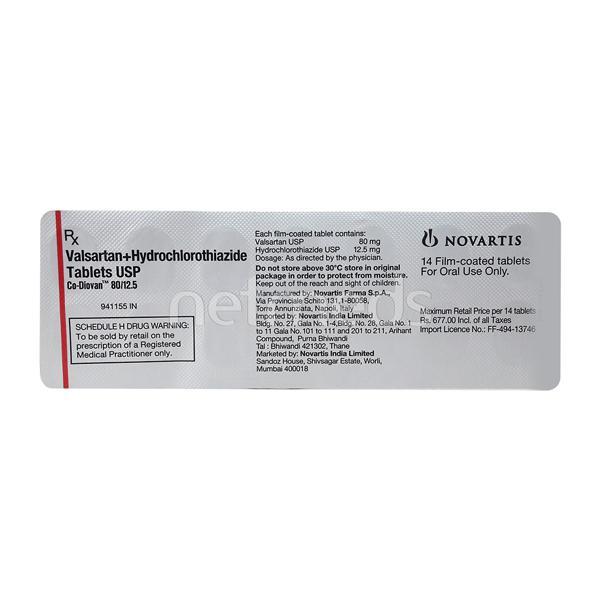 CO Diovan 80/12.5mg Tablet 14'S