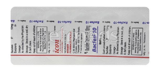 Bacfen 10mg Tablet 10'S