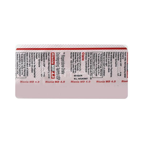 Risnia MD 4mg Tablet 10'S