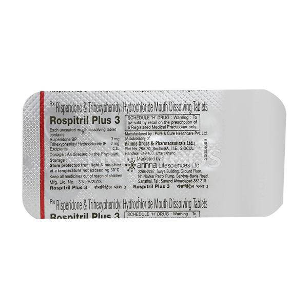 Rospitril Plus 3mg Tablet 10'S