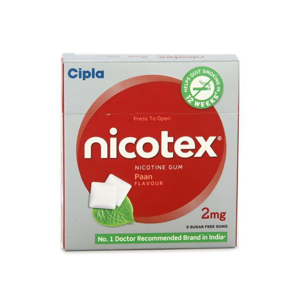Nicotex 2mg Chew Gum - Paan Flavour 9's