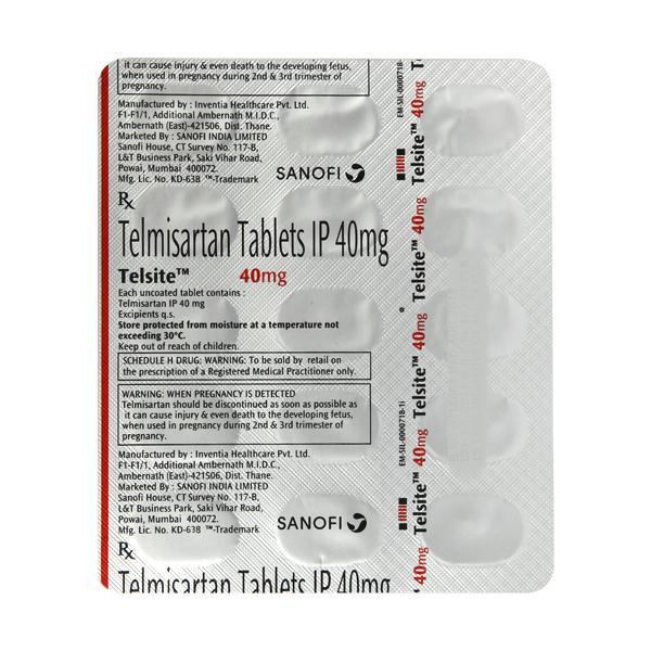 Telsite 40mg Tablet 15'S