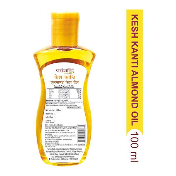 Patanjali Kesh Kanti Hair Oil - Almond 100 ml