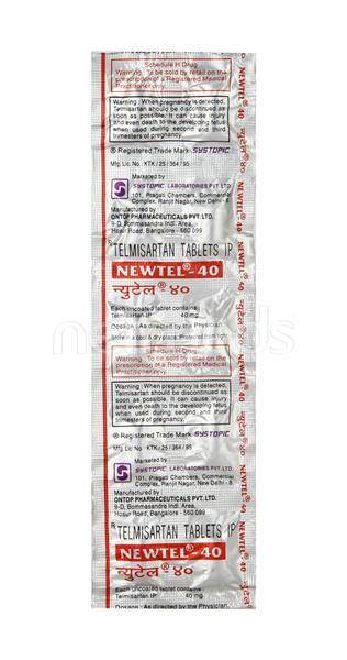 Newtel 40mg Tablet 10'S