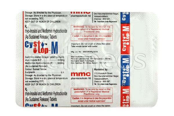 Cystop M 600mg Tablet 10'S