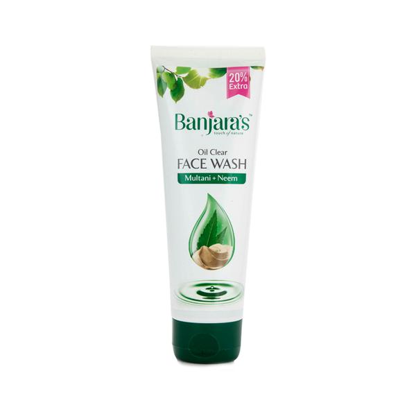 Banjaras Oil Clear Face Wash - Multani + Neem 100 ml
