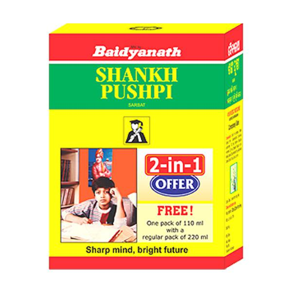 Baidyanath Shankh Pushpi Sarbat (220 ml +110 ml Free)
