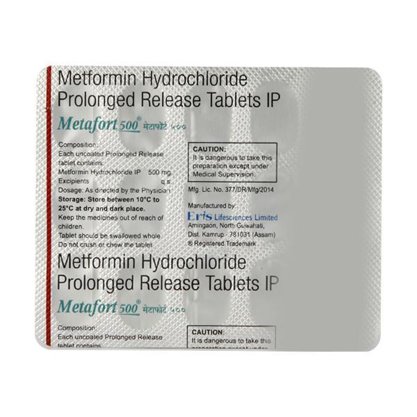 Metafort 500mg Tablet 15'S