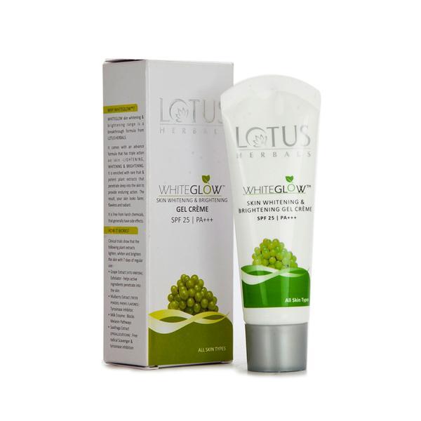 Lotus White Glow Skin Whitening & Brightening Gel Cream 18 gm