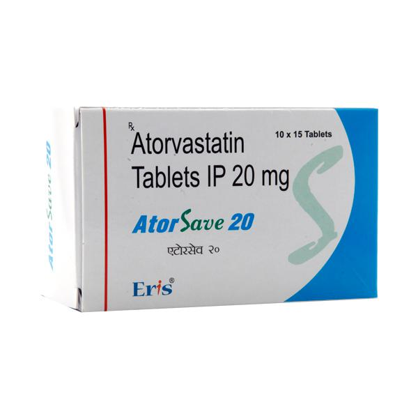 Atorsave 20mg Tablet 15'S