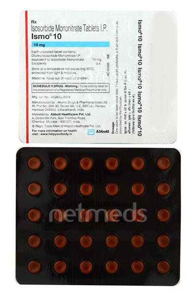 Ismo 10mg Tablet 30'S
