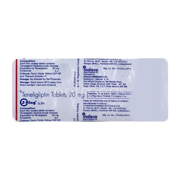 J Ring 20mg Tablet 10'S